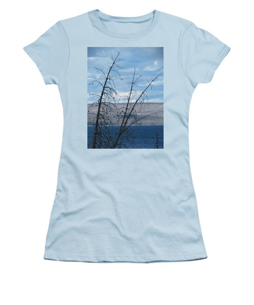Women's T-Shirt (Junior Cut) featuring the photograph Remnants Of The Fire by Laurel Powell