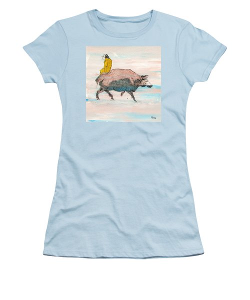 Riding A Blind Ox In Search Of The Tiger Women's T-Shirt (Junior Cut) by Roberto Prusso