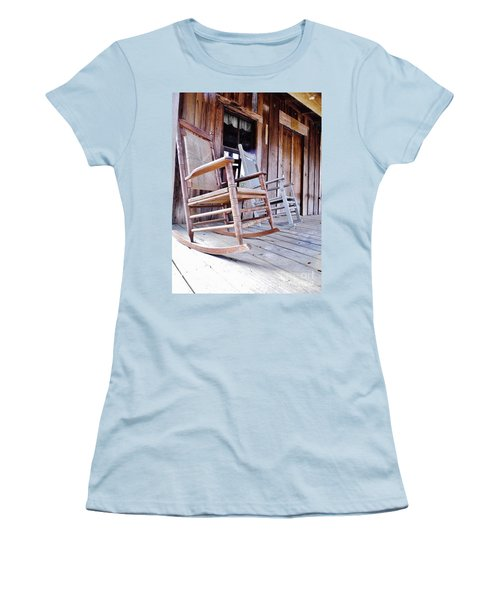 Rocking On The Front Porch Women's T-Shirt (Junior Cut) by D Hackett
