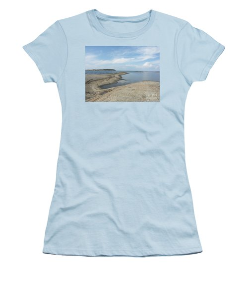 Rocky Coastline In Hamina Women's T-Shirt (Athletic Fit)