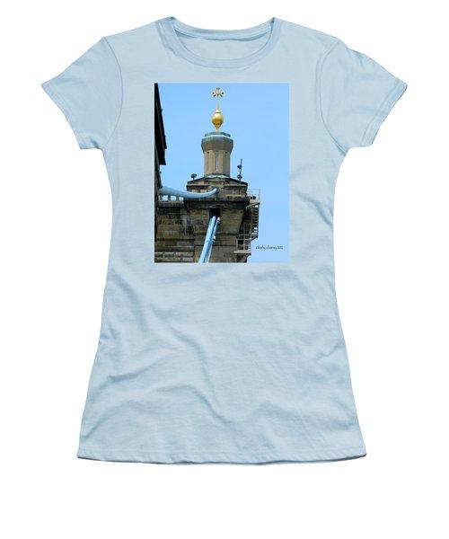 Roebling Bridge From Kentucky Women's T-Shirt (Junior Cut) by Kathy Barney