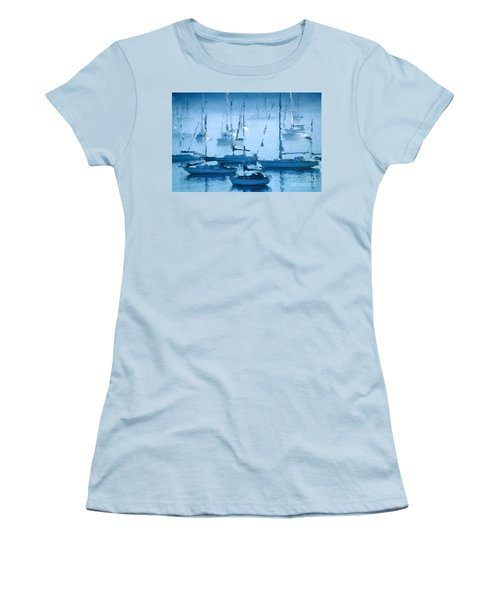 Sailboats In The Fog II Women's T-Shirt (Athletic Fit)