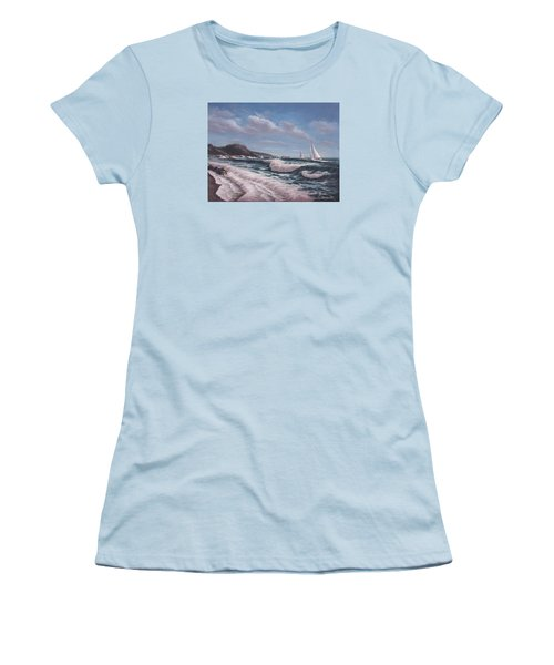 Sailing Toward Point Lobos Women's T-Shirt (Athletic Fit)