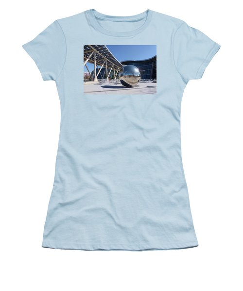 Women's T-Shirt (Junior Cut) featuring the photograph Salt Lake City Police Station - 1 by Ely Arsha