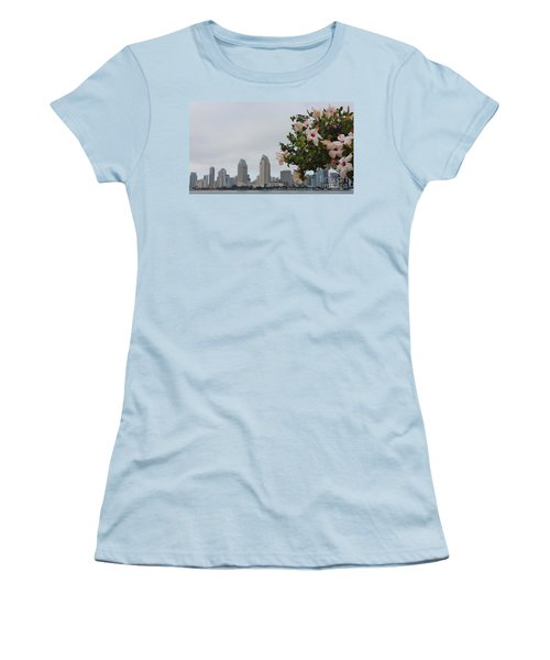 Women's T-Shirt (Junior Cut) featuring the photograph San Diego From Coronado View by Jasna Gopic
