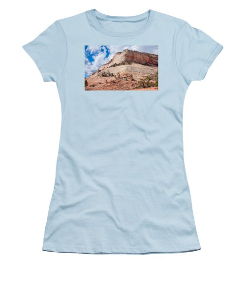 Women's T-Shirt (Junior Cut) featuring the photograph Sandstone Mountain by John M Bailey