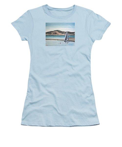 Santa Barbara Sailing Women's T-Shirt (Junior Cut) by Ian Donley