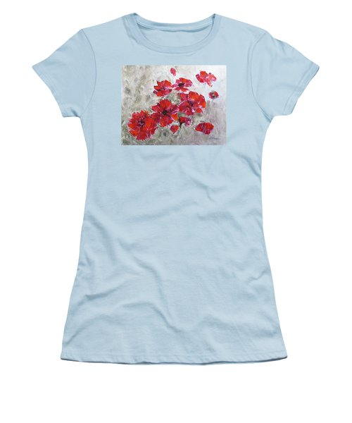 Scarlet Poppies Women's T-Shirt (Athletic Fit)