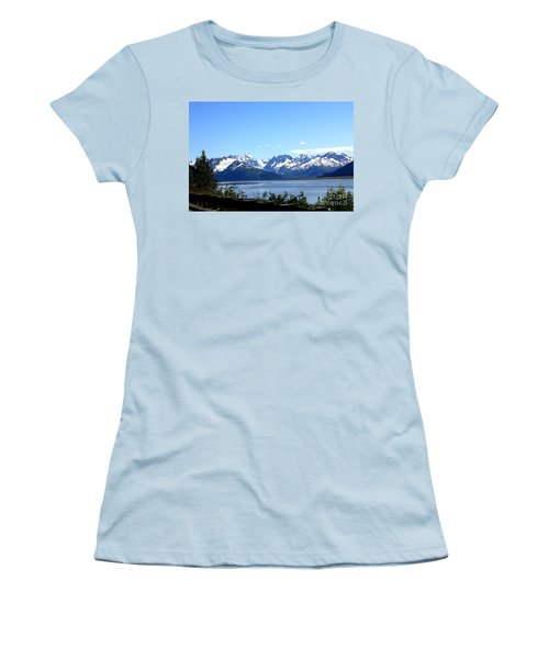 Women's T-Shirt (Junior Cut) featuring the photograph Scenic Byway In Alaska by Kathy  White