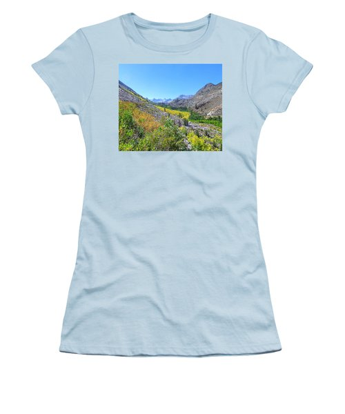 Women's T-Shirt (Junior Cut) featuring the photograph Scenic Peace by Marilyn Diaz