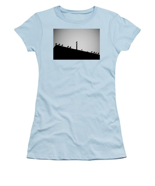 Sea Gulls In Silhouette Women's T-Shirt (Athletic Fit)