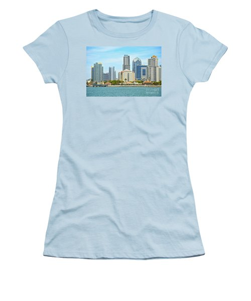 Seaport Village And Downtown San Diego Buildings Women's T-Shirt (Athletic Fit)