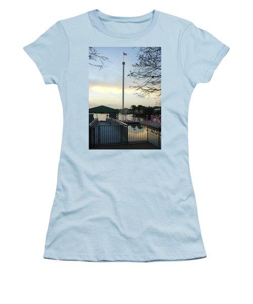 Women's T-Shirt (Junior Cut) featuring the photograph Seaworld Skytower by David Nicholls
