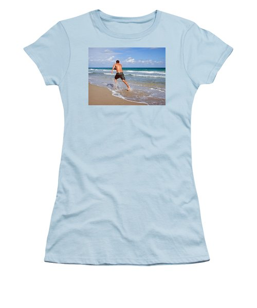 Shore Play Women's T-Shirt (Junior Cut) by Keith Armstrong