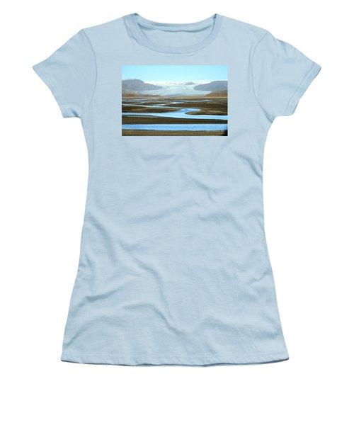Skaftafell Glacier Women's T-Shirt (Junior Cut) by Paula Guttilla
