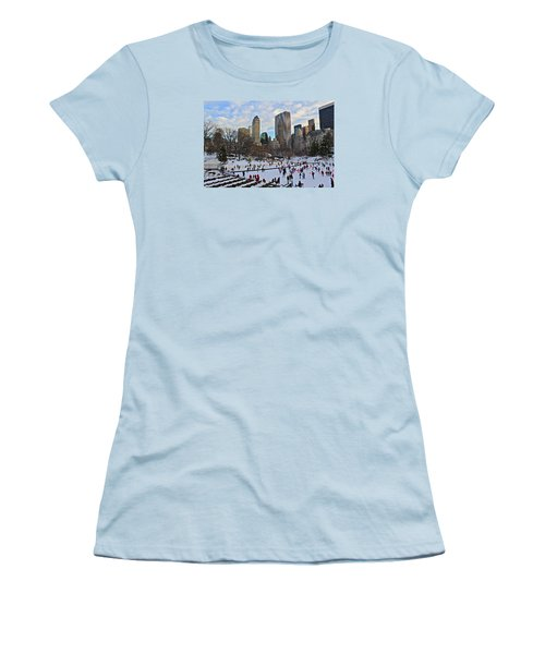 Skating In Central Park Women's T-Shirt (Athletic Fit)