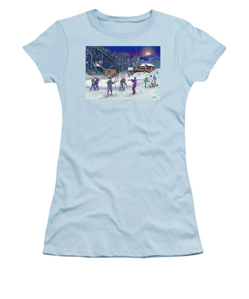 Ski Area Campton Mountain Women's T-Shirt (Athletic Fit)
