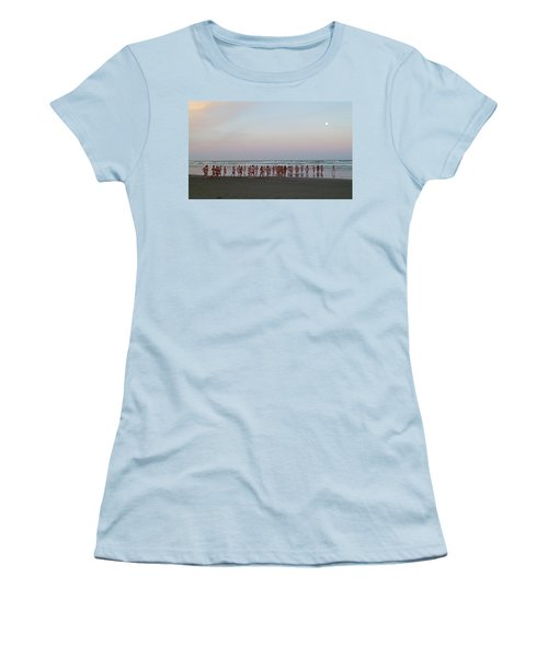Skinny Dipping Down A Moon Beam Women's T-Shirt (Athletic Fit)
