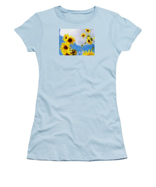 Women's T-Shirt (Junior Cut) featuring the photograph Smile Down On Me by Mary Wolf