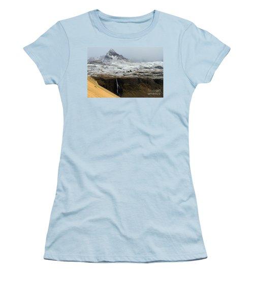 Snaefellsnes Peninsula #1 Women's T-Shirt (Junior Cut) by Paula Guttilla