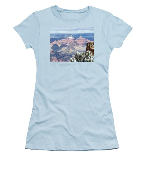 Snow At The Grand Canyon Women's T-Shirt (Athletic Fit)