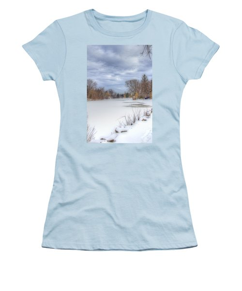 Snowy Lake Women's T-Shirt (Athletic Fit)