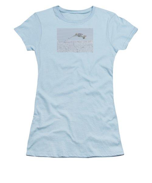 Snowy Owl #1/3 Women's T-Shirt (Junior Cut) by Patti Deters