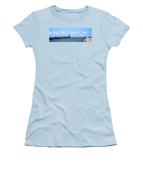South Haven Channel Women's T-Shirt (Athletic Fit)
