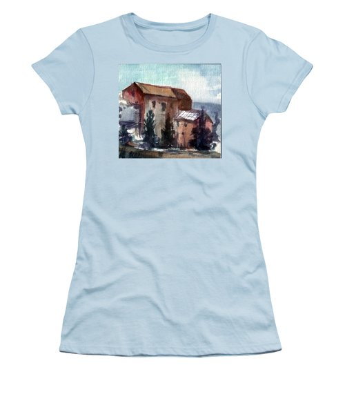 Women's T-Shirt (Junior Cut) featuring the painting South by Mikhail Savchenko