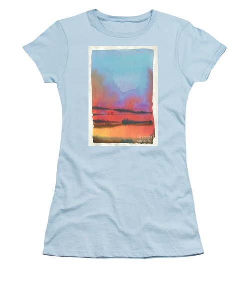 Women's T-Shirt (Junior Cut) featuring the painting Southland by Donald Maier