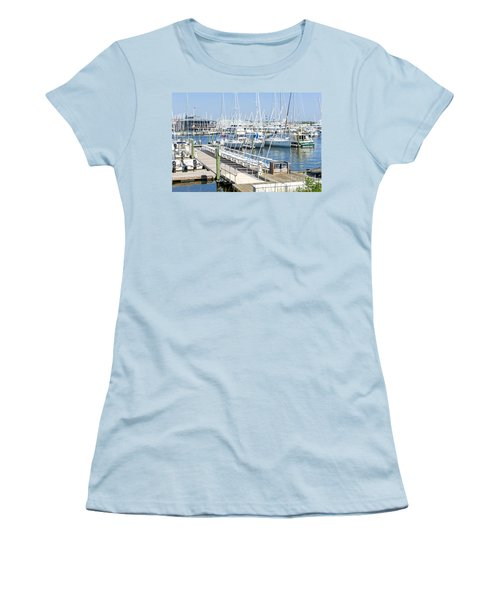 Women's T-Shirt (Athletic Fit) featuring the photograph Spa At 6th Street by Charles Kraus