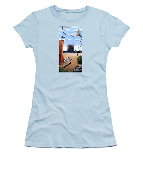 Species Differentiation -darwinian Broadcast- Women's T-Shirt (Junior Cut) by Ryan Demaree