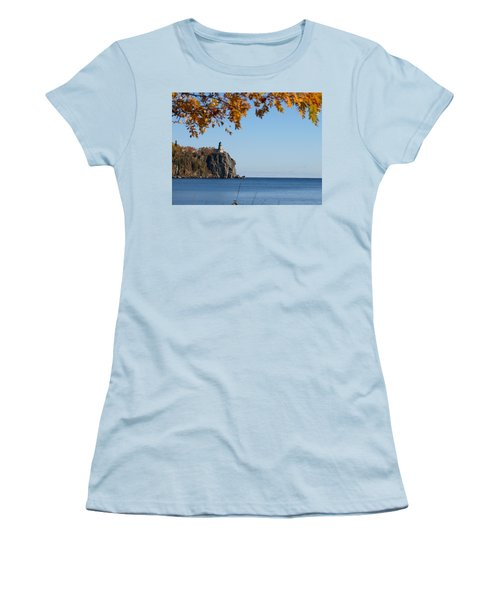 Split Rock Leaves Women's T-Shirt (Athletic Fit)