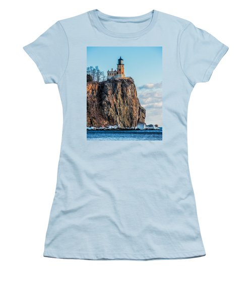 Split Rock Lighthouse In Winter Women's T-Shirt (Athletic Fit)