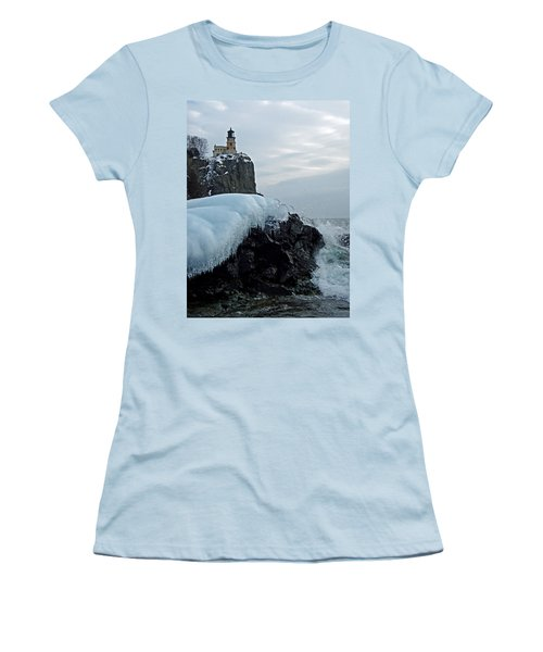 Split Rock Lighthouse Winter Women's T-Shirt (Athletic Fit)