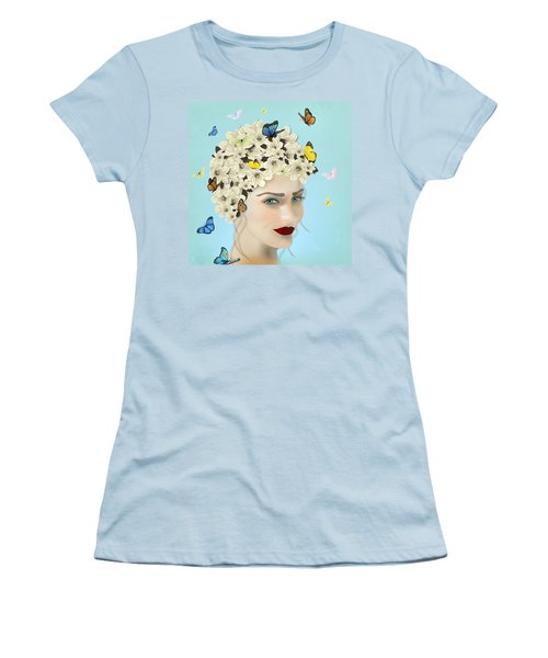 Spring Face - Limited Edition 2 Of 15 Women's T-Shirt (Junior Cut) by Gabriela Delgado