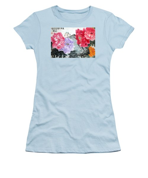 Spring Melody Women's T-Shirt (Junior Cut) by Yufeng Wang