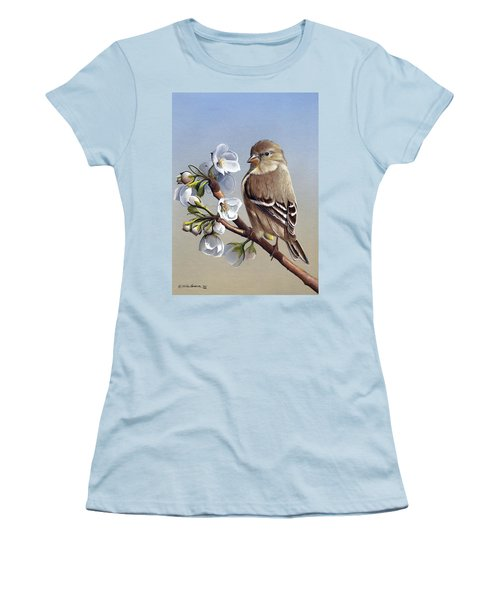 Women's T-Shirt (Junior Cut) featuring the painting Spring Splendor by Mike Brown