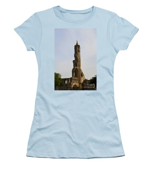 St Andrew's Cathedral Ruins Women's T-Shirt (Junior Cut) by DejaVu Designs