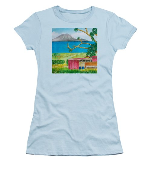 St. Eustatis From St. Kitts Women's T-Shirt (Junior Cut) by Frank Hunter