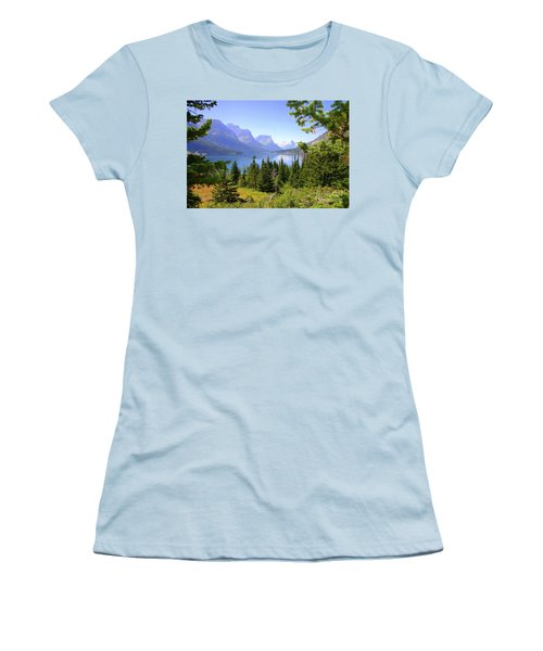 St. Mary Lake Women's T-Shirt (Junior Cut) by Bob Hislop