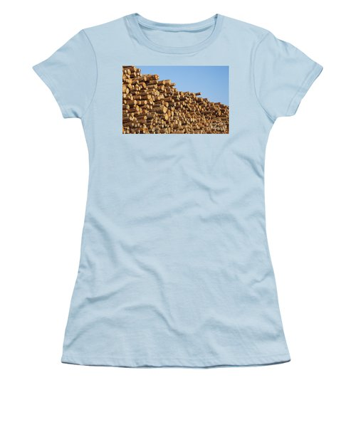 Stacks Of Logs Women's T-Shirt (Athletic Fit)