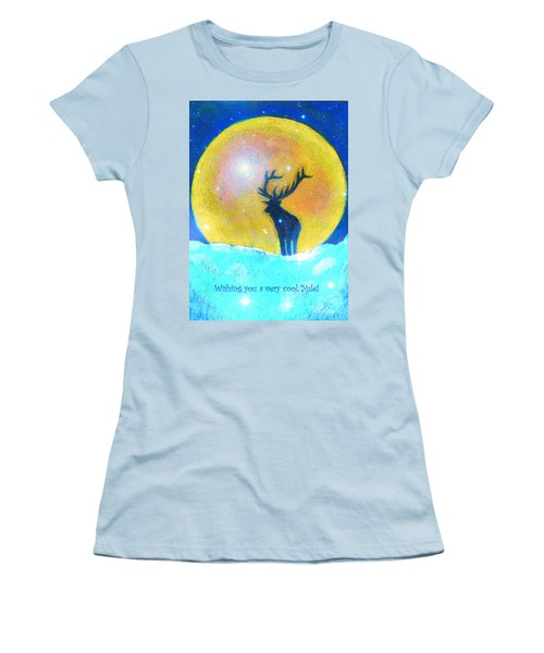 Stag Of Winter Women's T-Shirt (Athletic Fit)