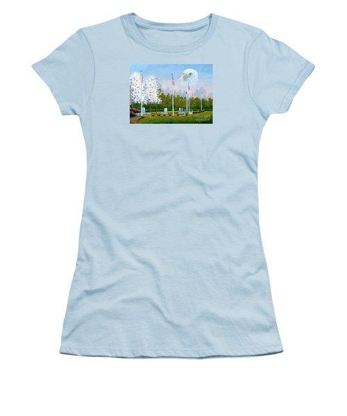 Standing Guard Over Veterans Park Women's T-Shirt (Athletic Fit)