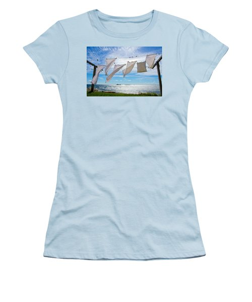 Star Island Clothesline Women's T-Shirt (Athletic Fit)