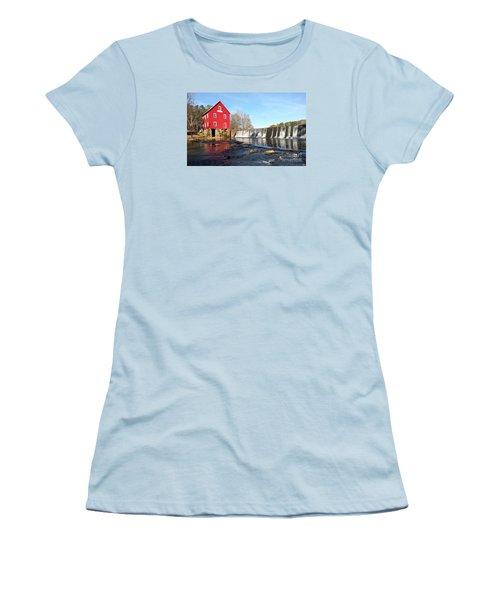 Women's T-Shirt (Junior Cut) featuring the photograph Starr's Mill In Senioa Georgia 3 by Donna Brown