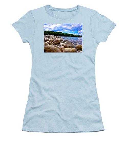 Stone Beach Women's T-Shirt (Junior Cut) by Zafer Gurel