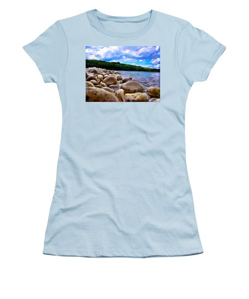 Stone Beach Women's T-Shirt (Athletic Fit)