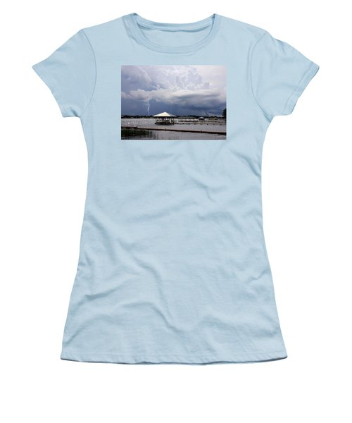 Storm Over Clay Lake Women's T-Shirt (Athletic Fit)