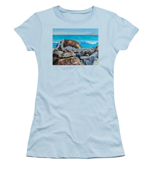 Women's T-Shirt (Junior Cut) featuring the painting Stranded by Susan DeLain